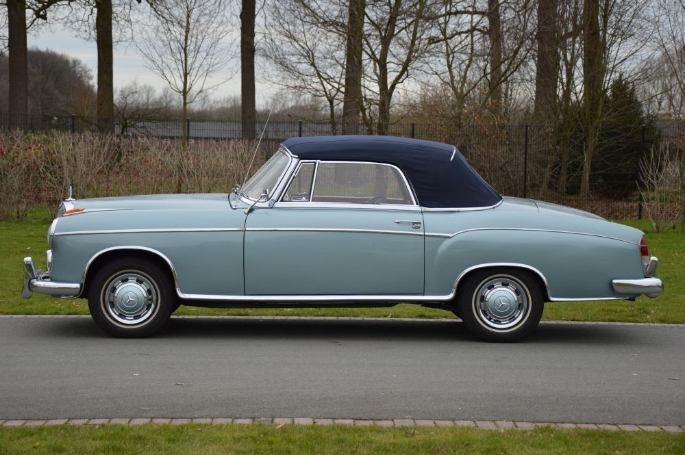 Classic park cars mercedes benz 220 s cabriolet for Mercedes benz winter park